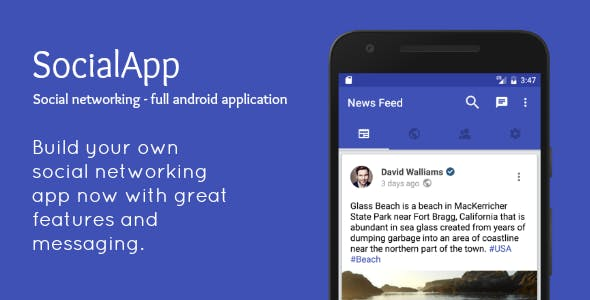 SocialApp - Full Android Application