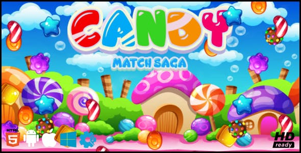 Candy Match Saga HTML5 GAME