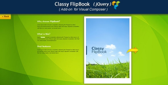 Visual Composer Add-on - Classy jQuery FlipBook - CodeCanyon Item for Sale