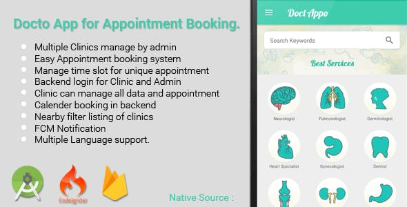 Multiple Clinic App - Appointment Booking for Doctor