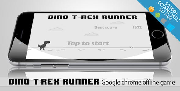 Dino T-Rex Google chrome game (android and IOS) Bbdoc file included
