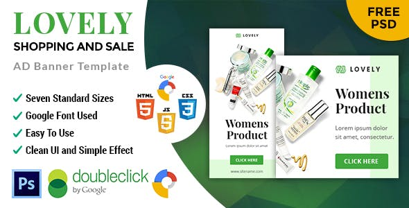 Lovely Beauty Care Product | HTML5 Google Banner Ad