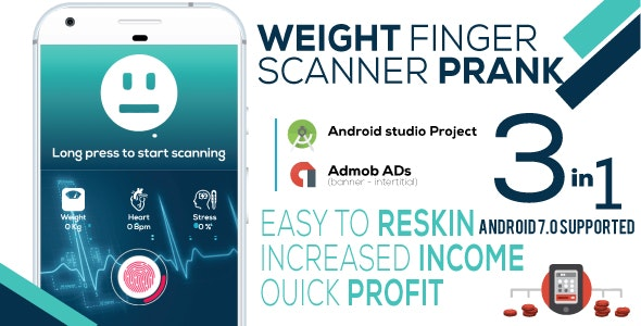 Weight Finger Scanner Prank + Admob - CodeCanyon Item for Sale