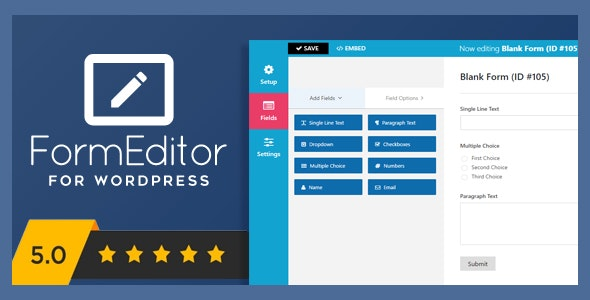 FormEditor - Pro WordPress Form Builder - CodeCanyon Item for Sale