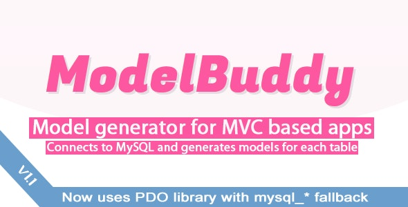 ModelBuddy - PHP Model Generator - CodeCanyon Item for Sale