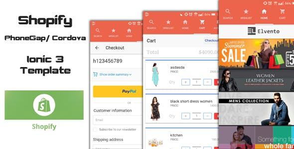 Ionic 3 Shopify PhoneGap/Cordova Starter App
