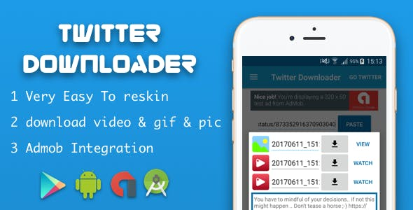 Twitter downloader video & gif & image