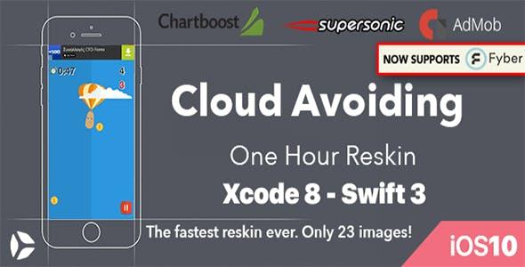 Cloud Avoiding – One Hour Reskin, IOS 10, Swift 3 Ready