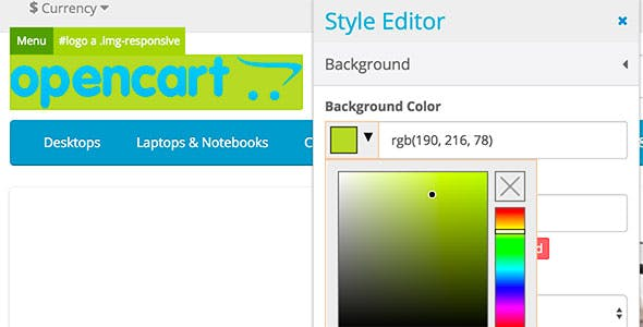 Visual OpenCart Theme Editor