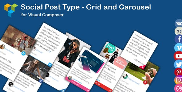 WPBakery Page Builder - Social News Post Type Grid and Carousel (formerly Visual Composer)