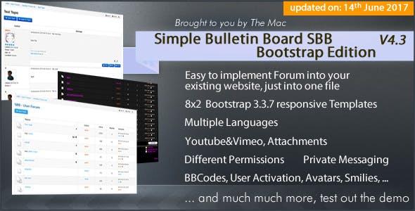 Simple Bulletin Board - Bootstrap Edition