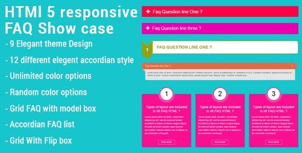 HTML5 Responsive FAQ Showcase