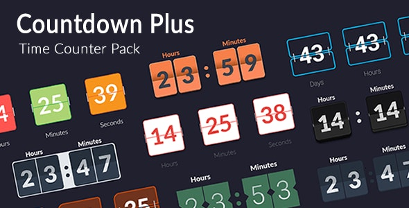 Countdown Plus - Time Counter Pack - CodeCanyon Item for Sale