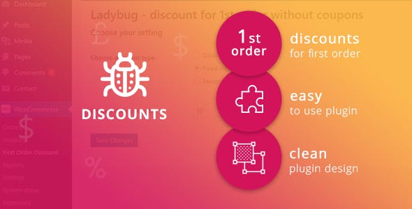 Ladybug - discount for 1st order without coupons