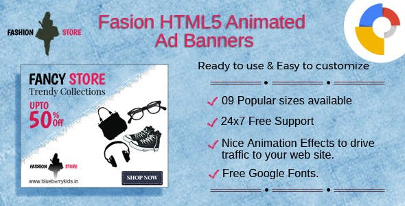 Fashion - Multipurpose HTML5 Ad Banners
