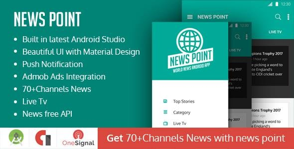 News Point - World News Android Application by rnmediadev007