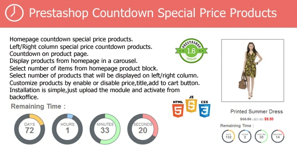 Prestashop Countdown Special Price Products Module - CodeCanyon Item for Sale