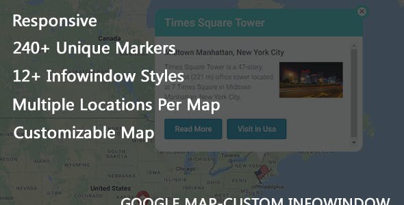 Custom Info Window for Google Map