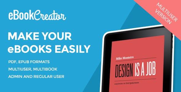 eBook Creator – Multiuser eBook creation system