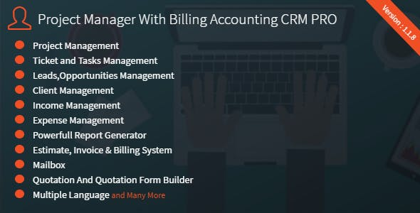 Project Manager With Billing Accounting CRM PRO
