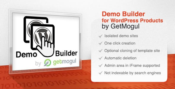 Demo Builder for WordPress Products by GetMogul
