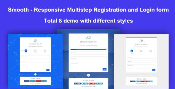 Smooth - Responsive Multistep Registration and Login form