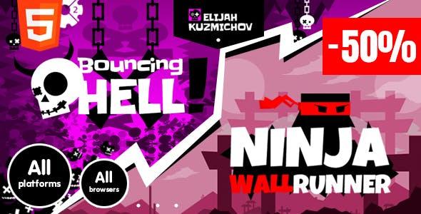 Bundle-50%: BouncingHell&NinjaWallRunner -50% + BonusFiles