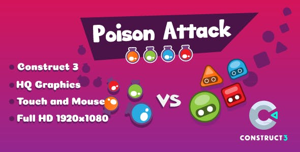 Poison Attack - HTML5 Game (Construct3)