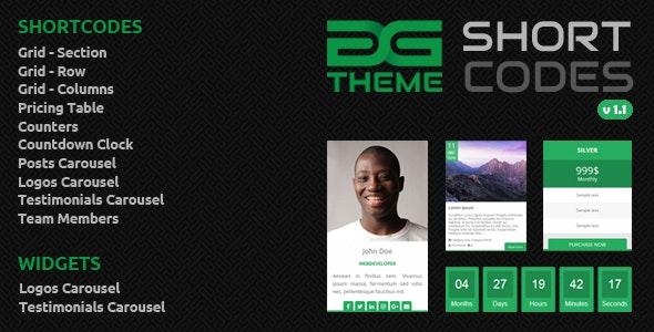 DGTheme ShortCodes - WordPress Plugin - CodeCanyon Item for Sale