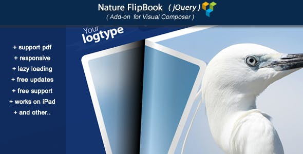 Visual Composer Add-on - Nature jQuery FlipBook