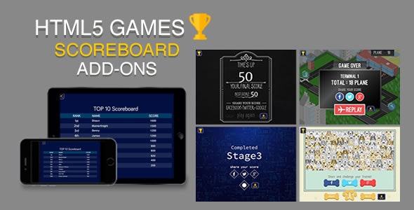 Scoreboard for HTML5 Games - CodeCanyon Item for Sale