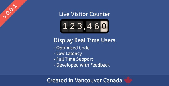 Live Visitor Counter - CodeCanyon Item for Sale