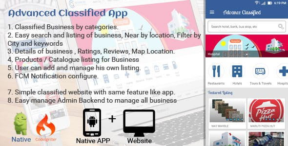 Advance Classified Search Engine App + Web
