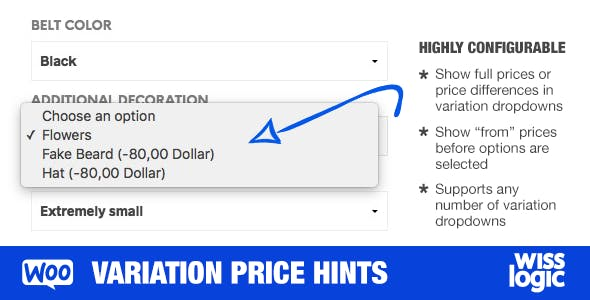 WooCommerce Variation Price Hints