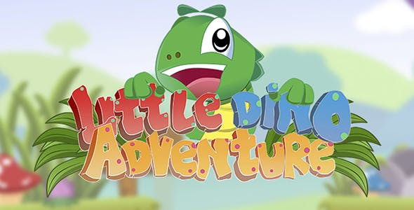 Little Dino Adventure - HTML5 Construct 2 Platform Game (.capx)