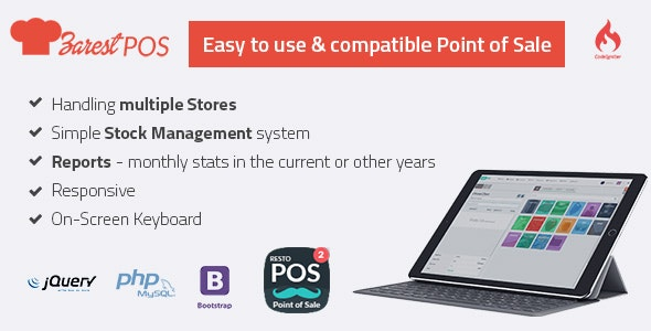 ZARest POS - restaurant point of sale web application - CodeCanyon Item for Sale