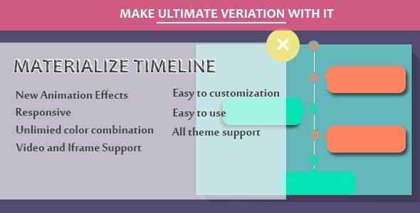 Visual Composer - Materialize Timeline