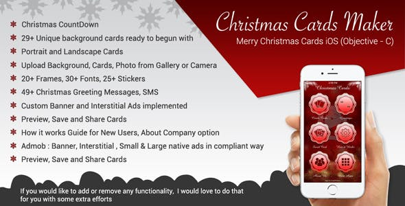 Christmas Greetings && Merry Christmas Cards iOS App (Objective-C / X-Code)