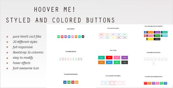 HOOVER ME! - Awesome and Colored Buttons