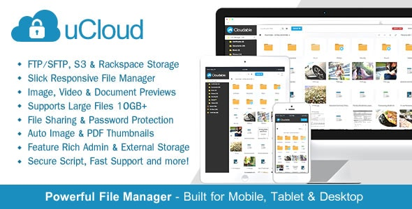 uCloud - File Hosting Script - Securely Manage, Preview