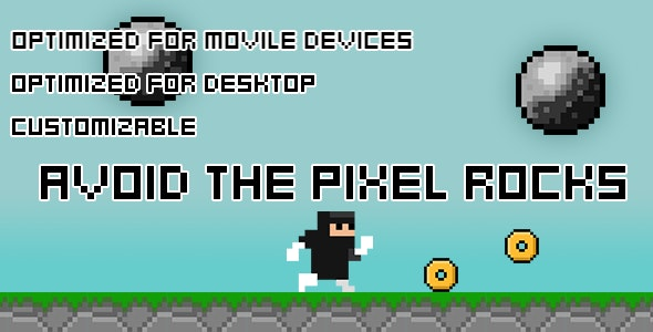 Avoid The Pixel Rocks(HTML5 Game + Construct 2 CAPX) - CodeCanyon Item for Sale