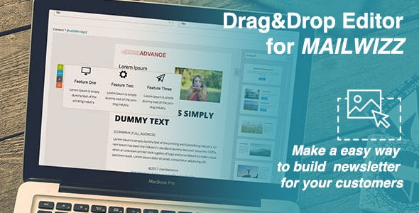 Drag&Drop Editor for MailWizz EMA