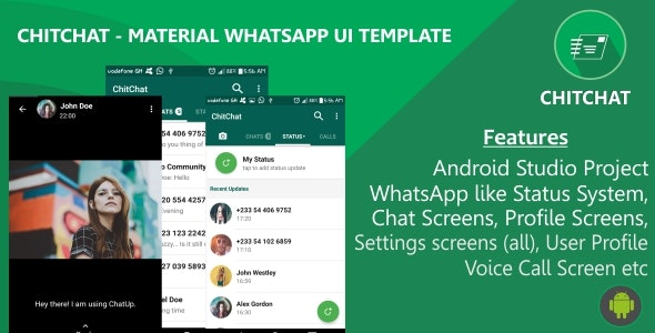 ChitChat - Material WhatsApp UI Template - CodeCanyon Item for Sale