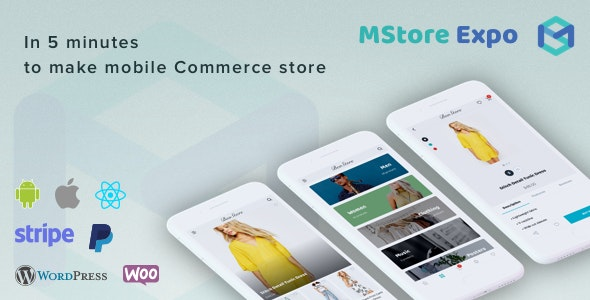 Mstore Expo - Complete React Native template for WooCommerce by
