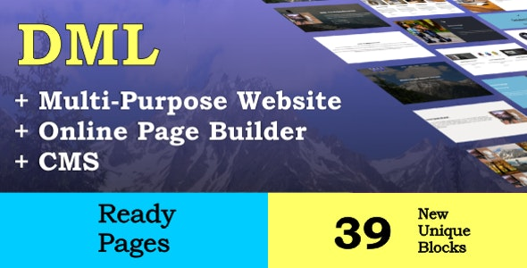 DML Online Website Builder and CMS - CodeCanyon Item for Sale