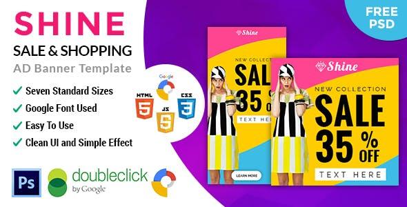 Shine Online Shopping | HTML5 Google Banner Ad