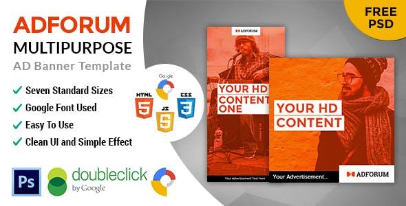 Adforum | Multipurpose HTML 5 Animated Google Banner