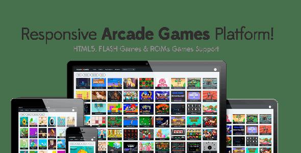 Responsive HTML5, Flash Games & ROMs Games Platform - Arcade Game Script - CodeCanyon Item for Sale