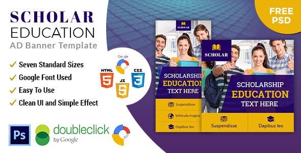 Scholar Education | HTML5 Google Banner Ad