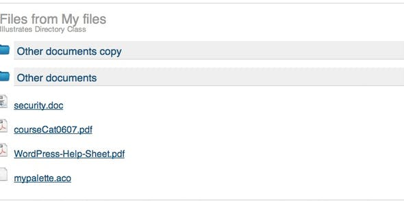 PHP Directory Handler
